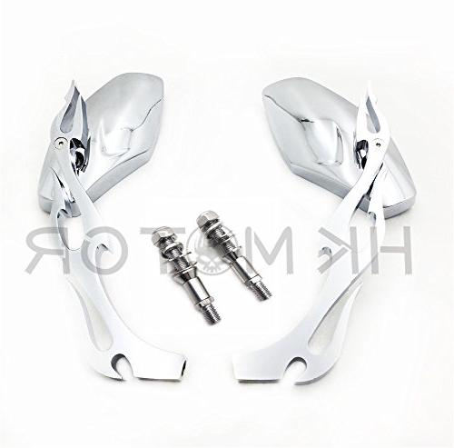 HongK- CHROME CUSTOM MOTORCYCLE PARTS-REAR VIEW MIRRORS FOR