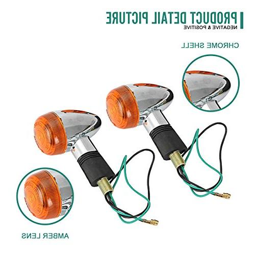 INNOGLOW Lights Bullet Rear Indicator Light for Suzuki Yamaha Standard Custom Cruiser Bobber Chopper