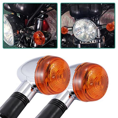 INNOGLOW Motorcycle Turn Signal Lights Chrome Bullet Front R