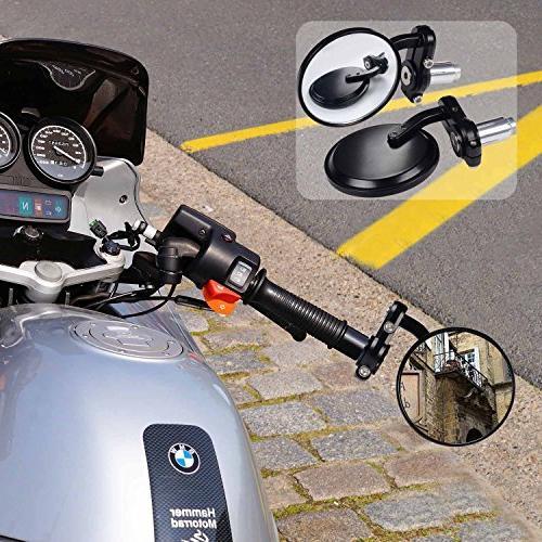 """Kawell Rear View Side Mirror Convex Hawk-eye For 7/8"""" Fits Most Suzuki Kawasaki"""