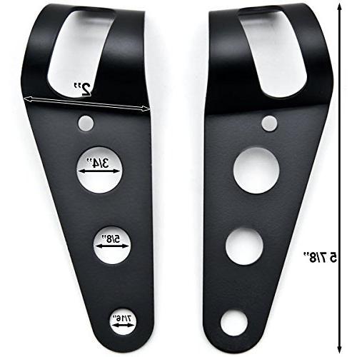 Krator Headlight Bracket Fork Ears 31-37mm For Harley Davidson Springer Classic