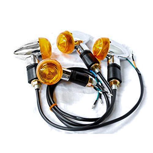 Krator Motorcycle 4 pcs Amber Turn Signals Lights For Kawasaki VN