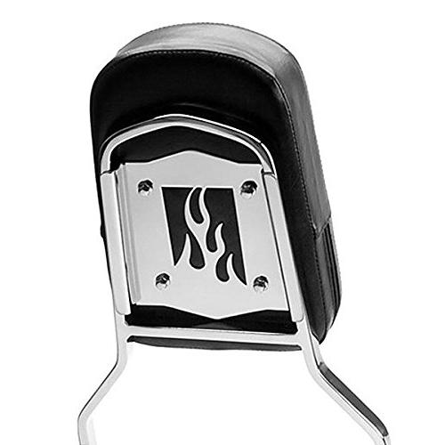 Krator Magna 750 Chrome Backrest / Bar with Pad Back Rest Seat Metric Cruisers Motorcycle