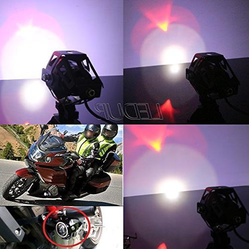 LEDUR U7 Running with Angel Eyes Lights Spotlight Strobe Light Switch