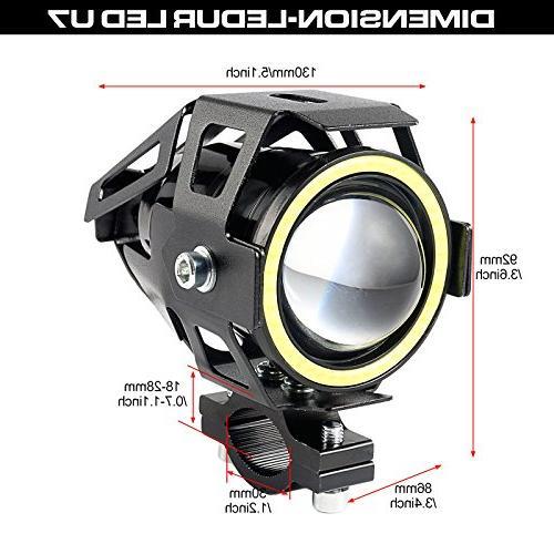 LEDUR U7 Driving Running Eyes Ring Spotlight Strobe Light and