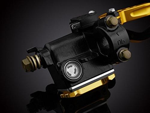 """LUO Motorcycle Racing Parts CNC Brake Master Cylinder Cable Kit Gold 7/8"""" For 2006 2010 2011 TRIUMPH Thruxton"""