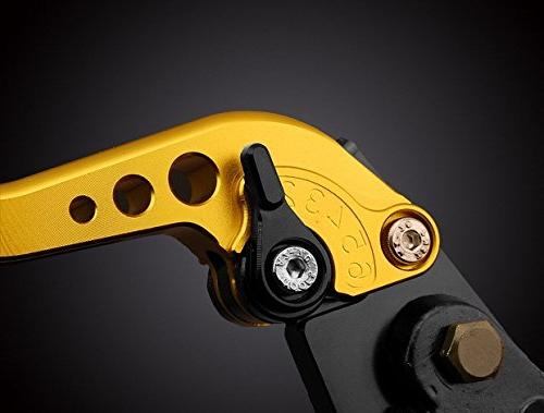 "LUO Racing CNC Billet Adjustable Reservoir Brake Master Cable Gold 7/8"" 2010 2011 2012 Thruxton"