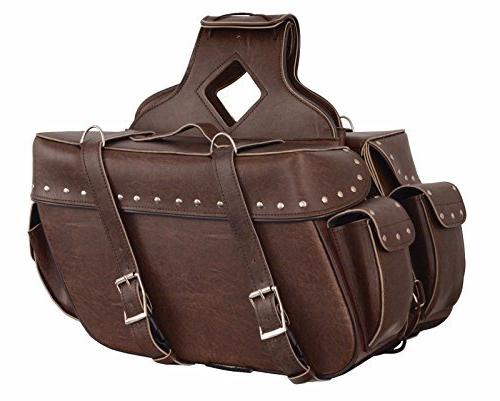 Shaf Motorcycle Large Antique Brown Two Piece Zip-Off PVC Ri
