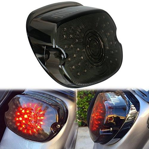 MOVOTOR Smoked Davidson Taillights Signal for FLST Plate Light