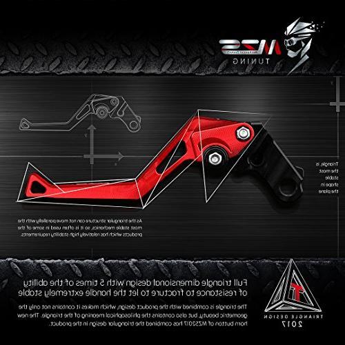 MZS Short Levers Brake Clutch Adjustment for Kawasaki KLX150S 09-13//KLX125 10-16//KLX250 08-16//Ninja 250R 08-12//Ninja 300R Z300 13-18//Ninja 400 2018//Z125 pro 15-18//Z250SL 16-17//Versys 300 X 17-18 Red