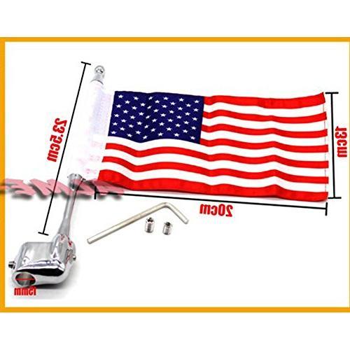 Motocycle CNC Aluminum Side Mount Luggage Antenna Flag For Honda GL1800 GL1500