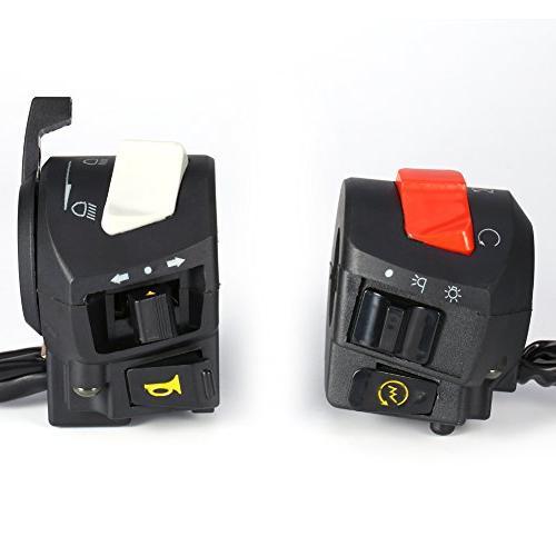 "Motorcycle 7/8"" Handlebar Turn Signal Headlight Electrical Start Switch"