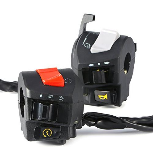 """Motorcycle 7/8"""" Horn Turn Headlight Electrical Start"""