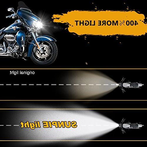 """7"""" For Harley Davidson MOTORCYCLE PROJECTOR DAYMAKER HID LED LIGHT for Wrangler JK LED"""