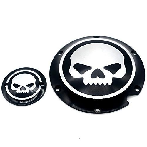 Motorcycle Black Chrome Timing Accessories Timer Cover Harley Sportster Iron XL 883 1200