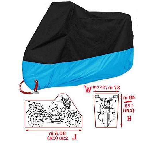 "Motorcycle Cover Motorbike Scooter Weather Copper Holes, 90"" Yamaha Honda Suzuki Ducati BMW"