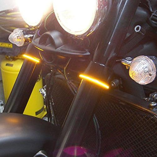 Motorcycle Signal Strip Lights Smoked Lens Davidson Bright Cool Motor Amber