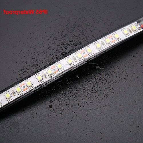 Motorcycle Fork LED Signal Strip Smoked Lens Davidson Universal Bright and Motor Lamp Amber
