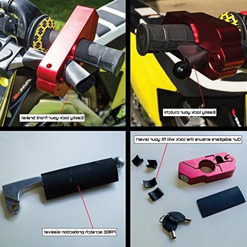 Motorcycle Heavy Theft ATVs Bike Bike use Grip Brake Simple W/FREE Scratch Protector Alarm