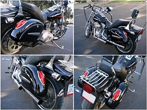 Motorcycle saddlebags Hard Saddle Bag Trunk w/ for 750