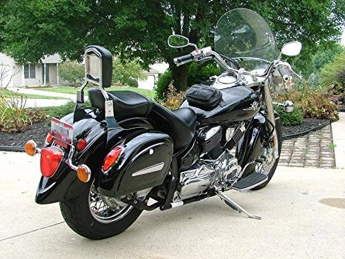 Motorcycle saddlebags Hard Bag Light for Shadow 600 750 F LN