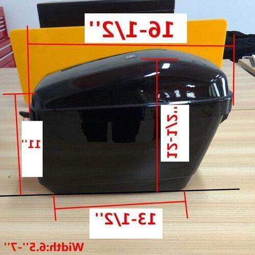 Saddlebags w/ mounting Fit Vulcan Black