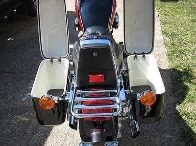 New Hard Saddle bags Saddlebags Fit Honda Shadow Vulcan Black