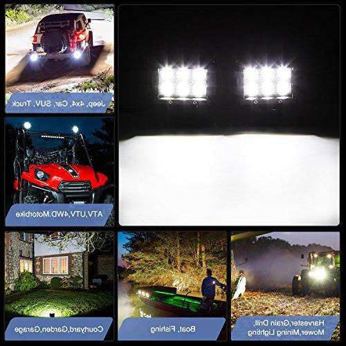 Nilight 18W 1260lm Spot Fog Off Led Lights Bar SUV Lamp,2 years Warranty