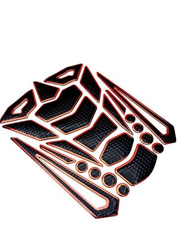 Niree Motorcycle Tank Gas Metallic Luster Pad Sticker for 1290 Super Duke RC8 / 990 SuperDuke