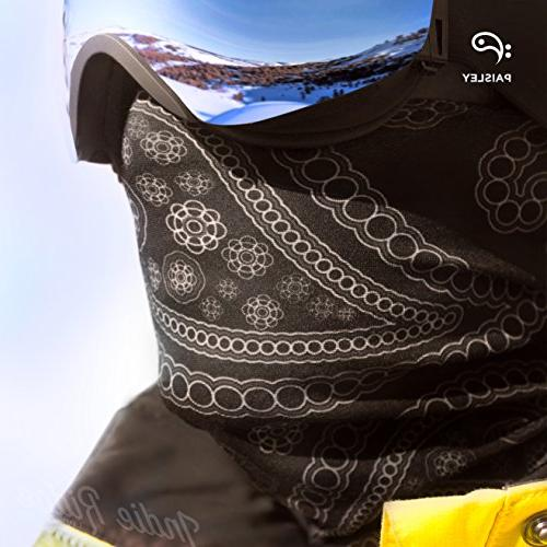 Paisley Mask By Polyester Headwear for Hiking Cycling Ski