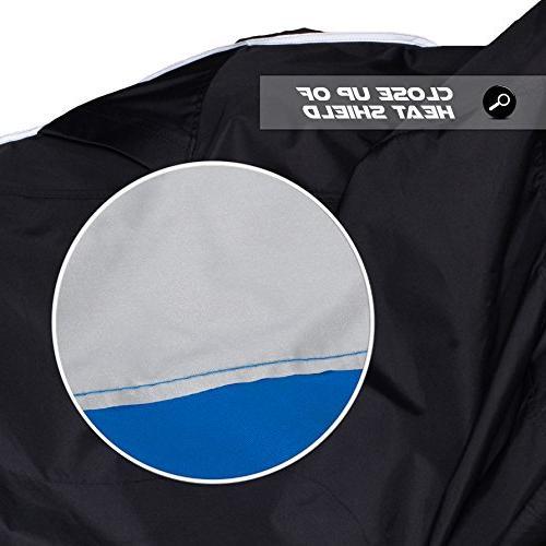 Premium Heavy Duty Outdoor Motorcycle Cover. Season Shield. Heat fabric is & Sportbikes &