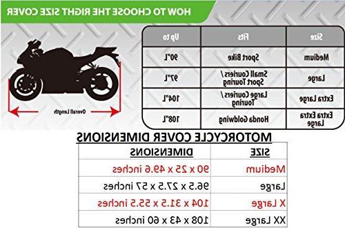 Premium Heavy Duty Motorcycle Cover. Waterproof Season Shield. Resistant fabric & Sportbikes