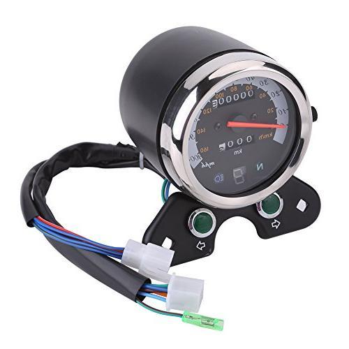 Qiilu Universal Motorcycle Odometer Gear Indicator,Speed LED ATV Honda S