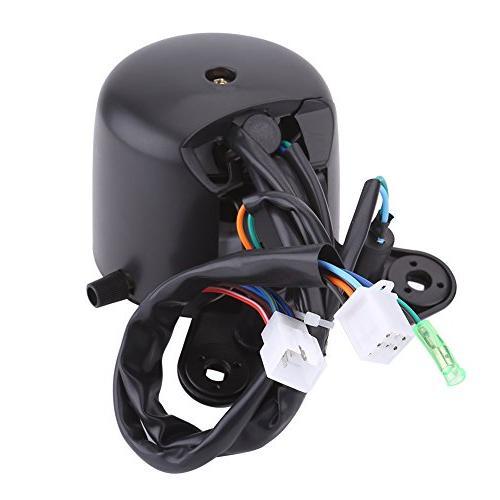 Qiilu Motorcycle Odometer Speedometer Gear Display,Headlight Display,Turn Indicator,Speed Pointer Display ATV Yamaha