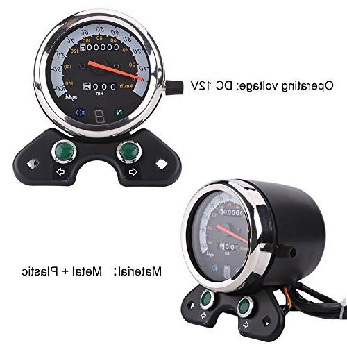 Qiilu Odometer Speedometer With Digital Gear Signal Indicator,Speed LED