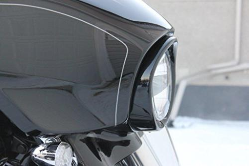 """ROCCS 7"""" Headlight Lamp Trim Decorate Ring For Davidson 83-13 Touring Road King 94-14"""
