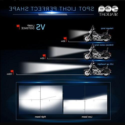 SEALIGHT H4/9003 Motorcycle Headlight DOT Approved, High/Low - 6000K