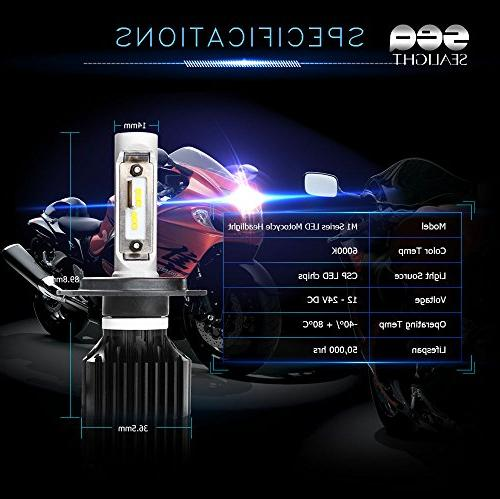 SEALIGHT Headlight Bulbs Conversion Kit, DOT High/Low Beam - 6000K