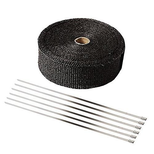 "SunplusTrade 2"" x Black Heat Roll for Heat Shield Stainless"