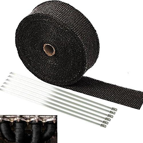 SunplusTrade Black Roll for Heat Shield Tape with Stainless