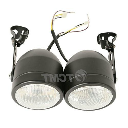 TCMT Twin Front Headlight W/ Bracket For Harley Dual Sport M