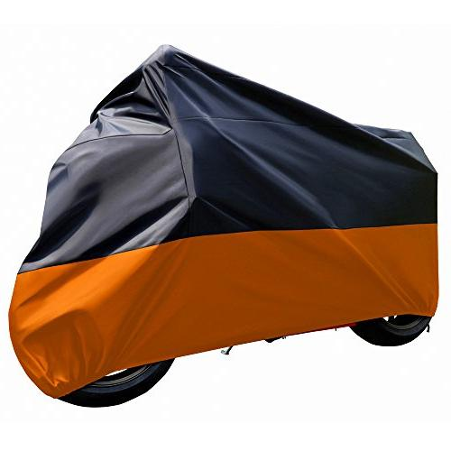 Tokept Black and Orange Waterproof Sun Motorcycle cover .116