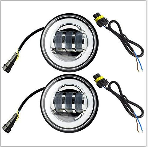 UNI Inch Round Fog Passing Lamps Auxiliary Light Bulbs Halo for Classic Road King Electra Glide Softail Royal Star