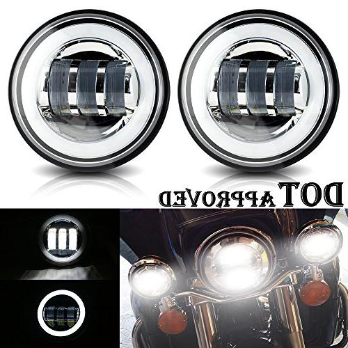 UNI FILTER 4.5 Inch Round Led Fog Lights Passing Lamps Auxil