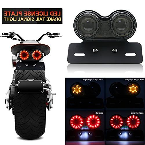 Universal 40W 40 LED Twin Dual Cat Eye Motorcycle Taillight
