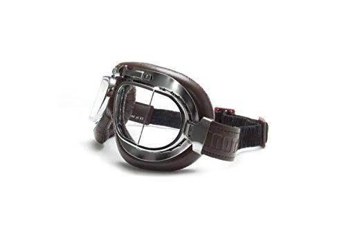Vintage Motorcycle Goggles with Antifog and Anticrash Square