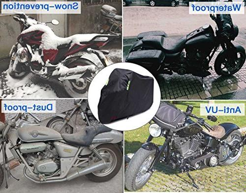 Waterproof Motorcycle Cover, All Oxford Durable Tear Proof for 104 XXL Motorcycles Yamaha, Suzuki, Harley and More