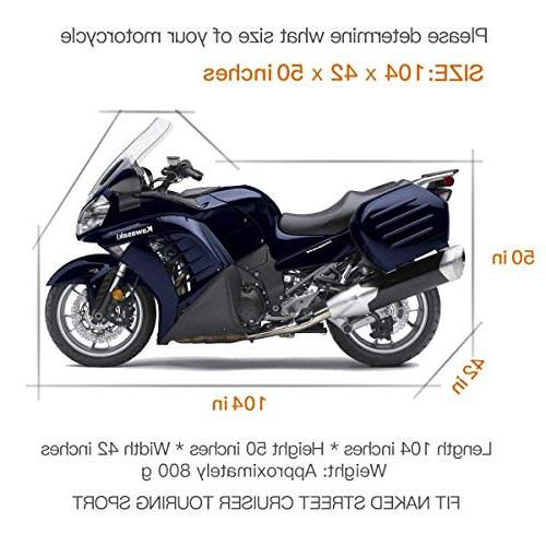 Waterproof Weather Outdoor Proof 104 XXL Motorcycles Honda, Yamaha, Suzuki, Harley More