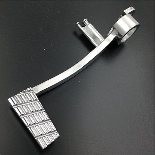 XKH-Motorcycle Silver Unfoldable Rear Brake Pedal Foot Lever