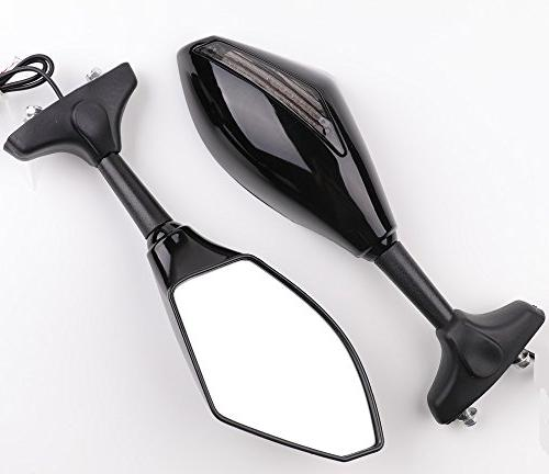 XYZCTEM Turn Signal LED Integrated Sports Racing Mirrors for